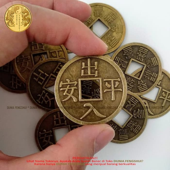 Gambar Uang Logam China Koin Cina Kuno Besar Koin Cina Keberuntungan Lucky China Coin