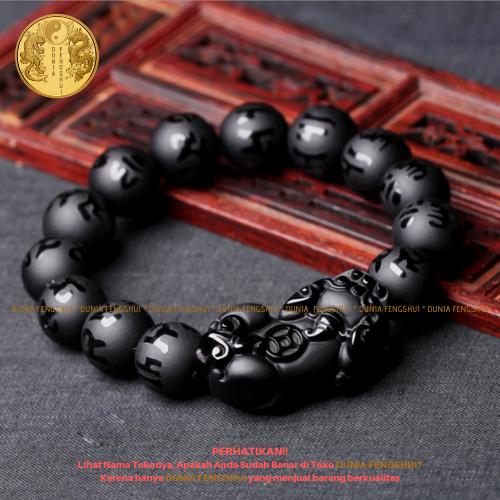 gelang pixiu black obsidian 1