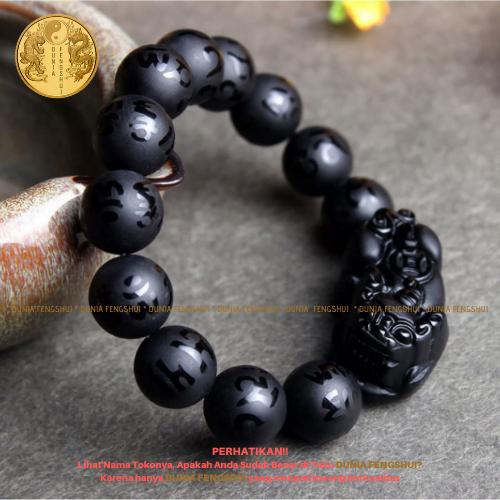 gelang pixiu black obsidian 3